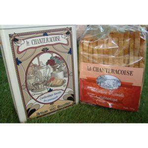 Biscottes Authentique et sa boîte en métal la Chanteracoise