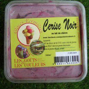 Crème glacée cerise noir 500ml