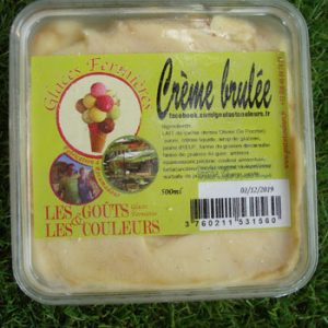 Crème glacée crème brûlée 500ml