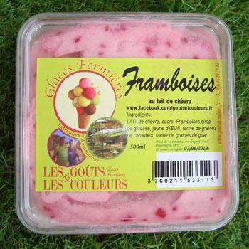 Crème glacée framboise 500ml