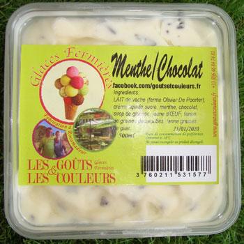 Crème glacée menthe chocolat 500ml