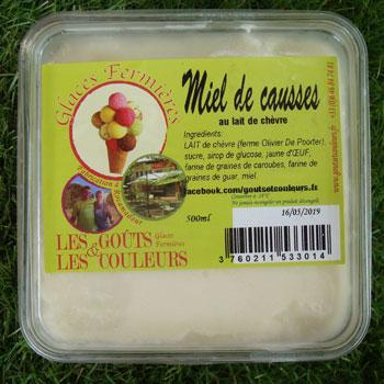 Crème glacée au Miel du Causse 500ml