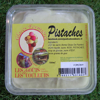 Crème glacée pistache 500 ml