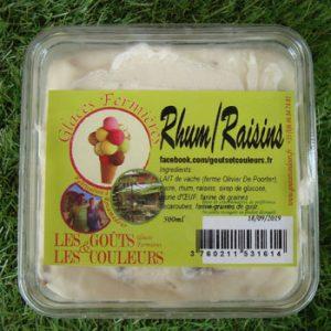 Crème glacée Rhum Raisins 500ml