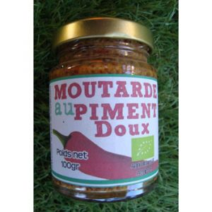 Moutarde au piment doux BIO 100g