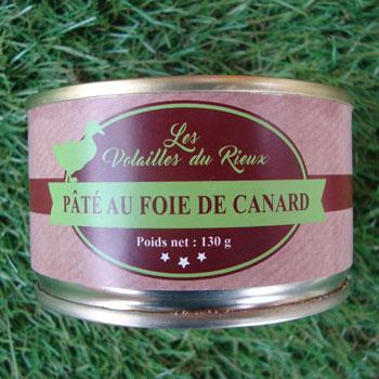 Pâté au foie de canard du Rieux 130g
