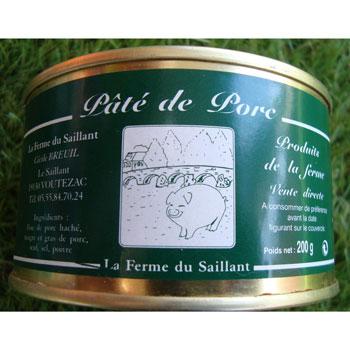 Pâté de Porc Ferme du Saillant