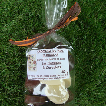 Sachet trois chocolats 180g