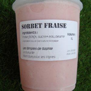 Sorbet Fraise Bio 1L Les Simples de Sophie