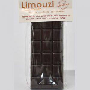 Tablette de chocolat nature 100g